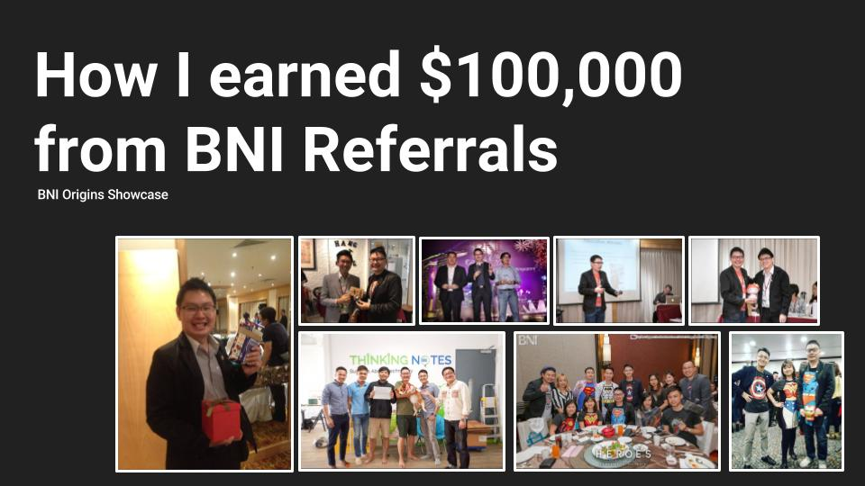 How I earn $100K from BNI Referrals